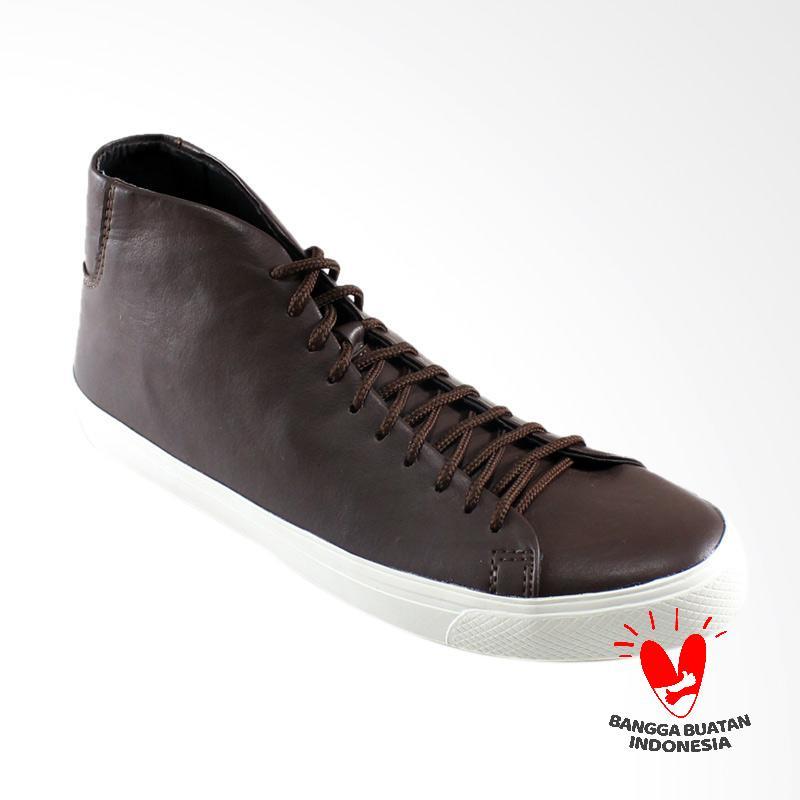 Dane And Dine Bleka High Sepatu Pria - Brown