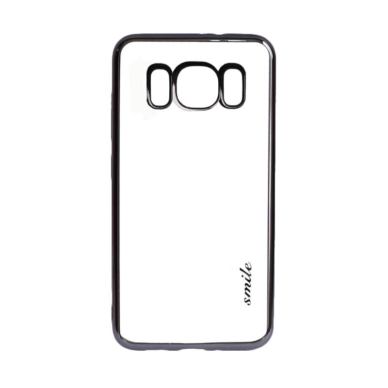SMILE Ultrathin Shining List Chrome Softcase Casing for Samsung Galaxy S8 - Black