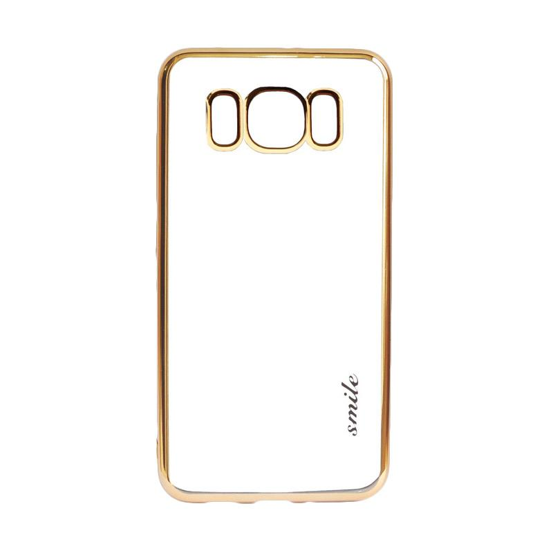 SMILE Ultrathin Shining List Chrome Softcase Casing for Samsung Galaxy S8 - Gold