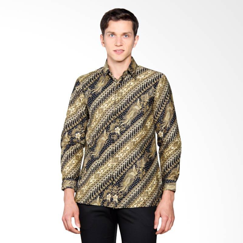Batik Heritage Katun Lereng Cendrawasih Slim Fit Kemeja Pria - Hijau