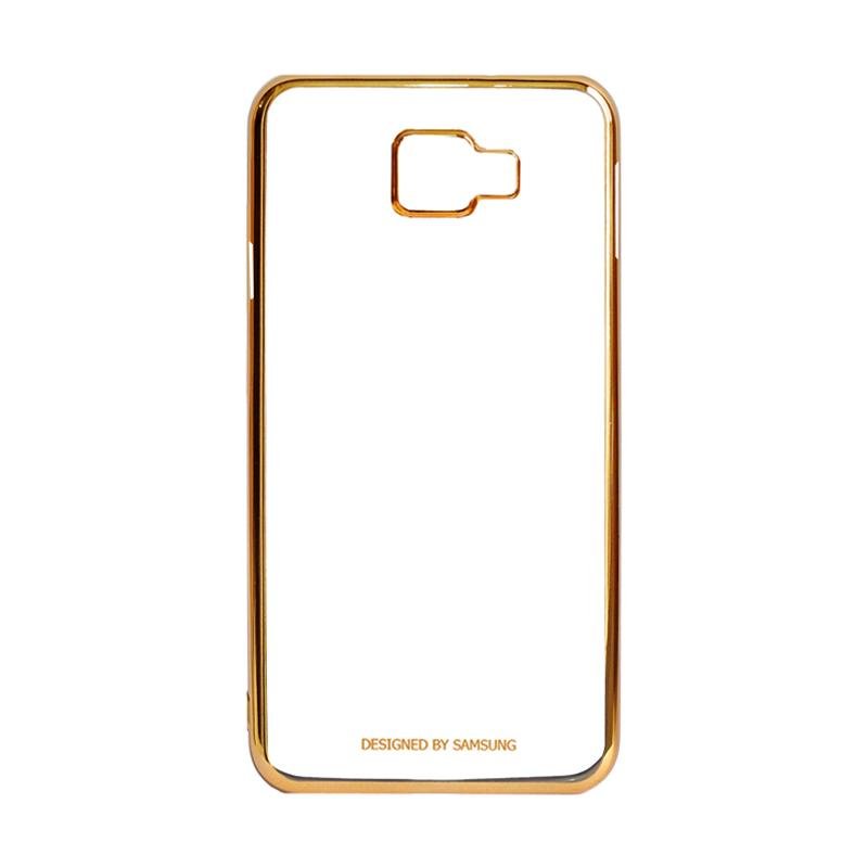 Samsung Shining List Chrome Hardcase Casing for Galaxy A5 2016 A510 - Gold