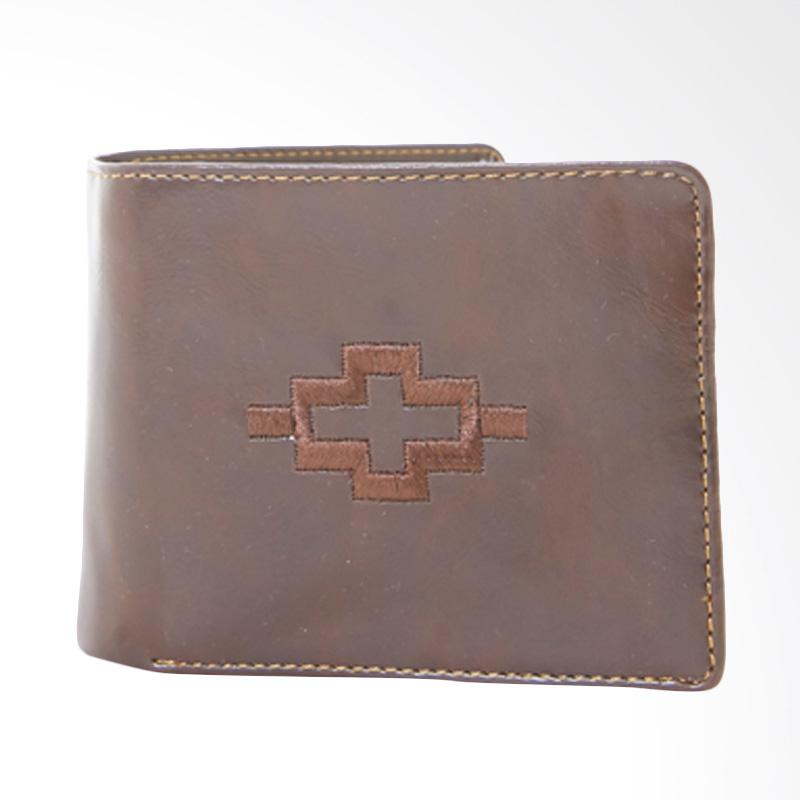Tendencies Ethnic Icon Brown Wallet Dompet Pria - Coklat