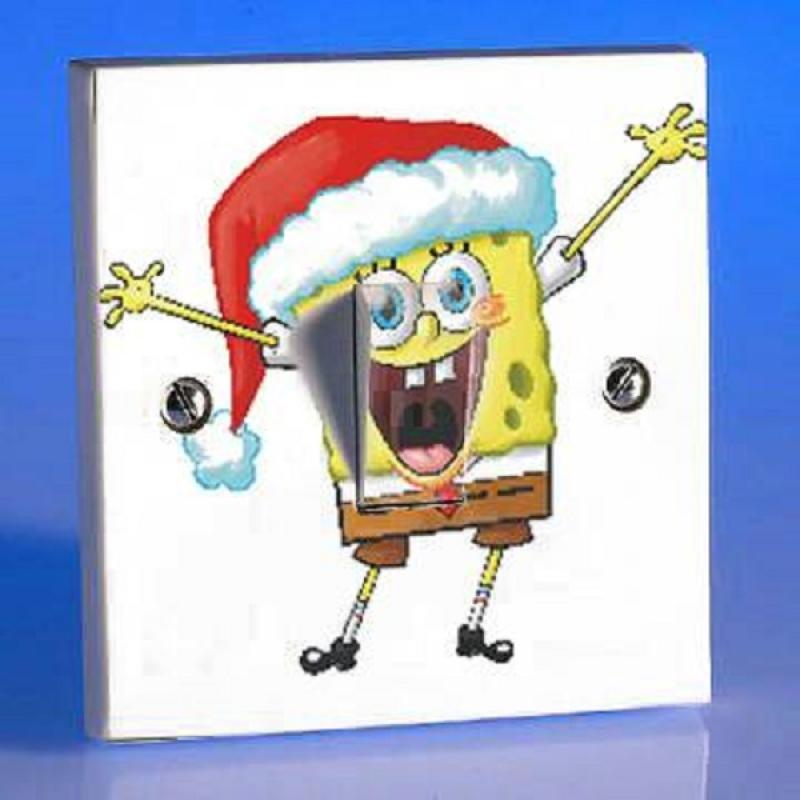 OEM Motif SpongeBob Tombol Lampu Sticker