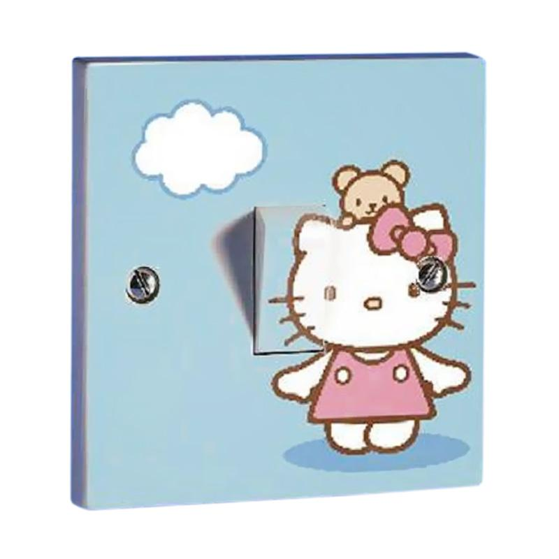 OEM Motif Hello Kitty 1 Tombol Lampu Sticker