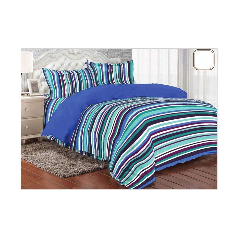 Ellenov Motif Layer Set Sprei dan Bedcover - Blue