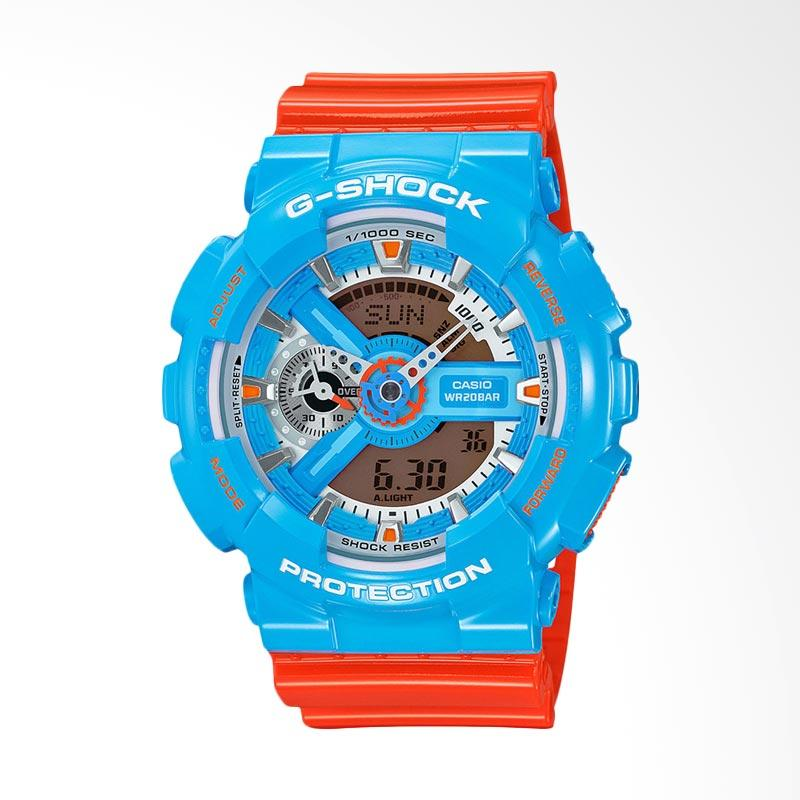 CASIO G-Shock Jam Tangan Pria - Blue Orange GA-110NC-2ADR