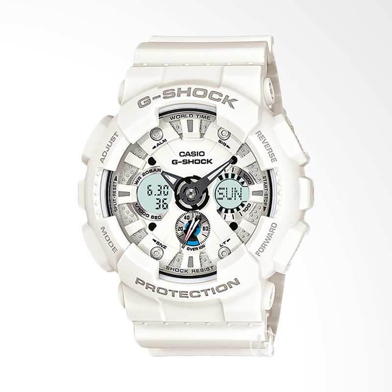 CASIO G-Shock Jam Tangan Pria - White GA-120A-7ADR