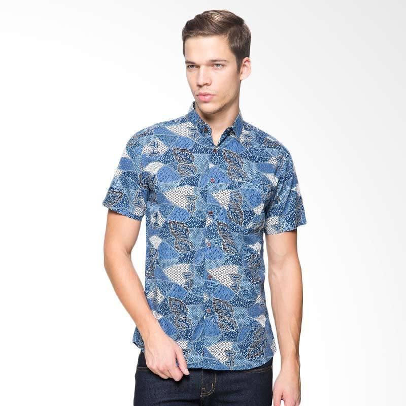 harga FBW Clifton Batik Shirt Atasan Pria - Navy Blibli.com