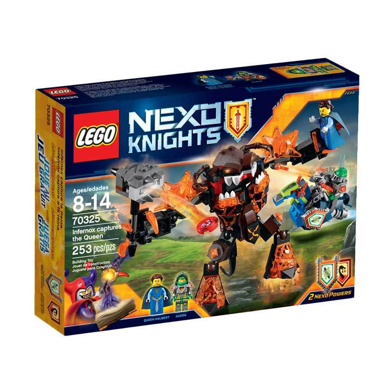 LEGO Nexo Knights 70325 Infernox Captures The Queen Mainan Blok & Puzzle