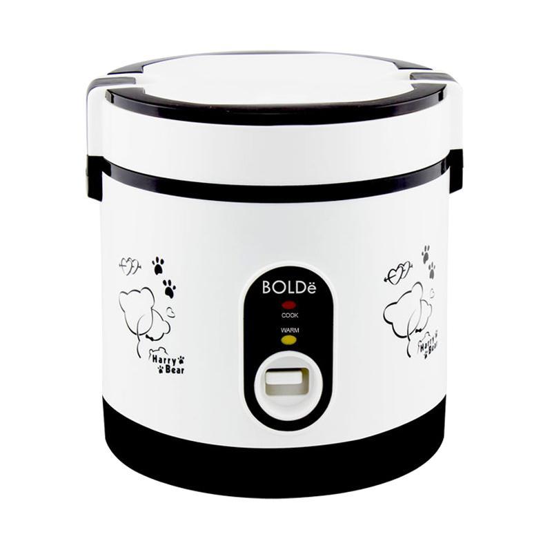 BOLDe Rice Cooker Mini 0.6 Liter SUPER COOK Titanium - Hitam - Utama Electronic