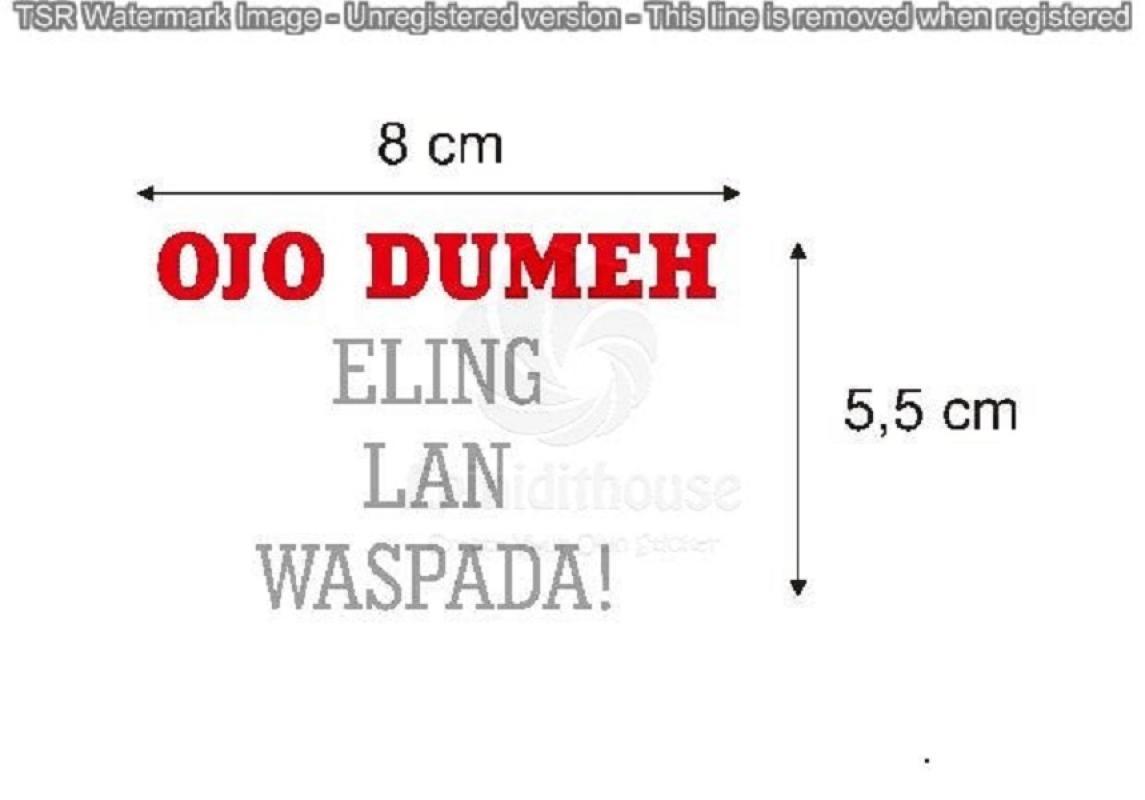 OEM Ojo Dumeh Spakbor Batok Cutting Sticker Motor or Mobil