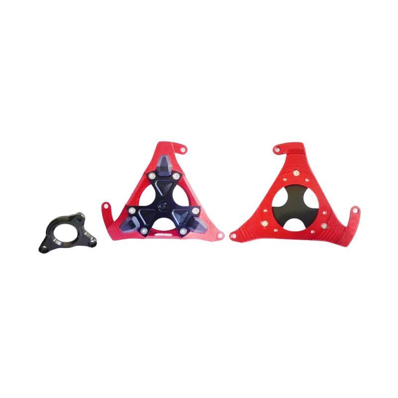Raja Motor Set Cover Mesin Motor Kanan dan Kiri for Yamaha Xabre/Vixion/R15 - Merah [TUM3083]