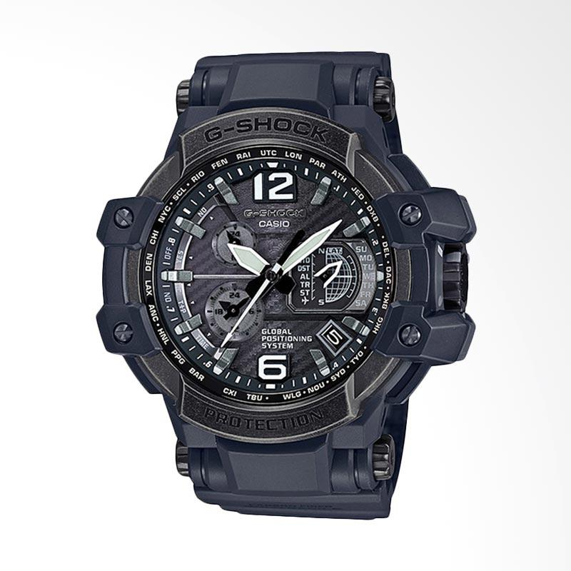 Casio G-Shock GPS Hybrid Wave Ceptor with Grey Band + IP Bezel Jam Tangan Pria GPW-1000V-1ADR