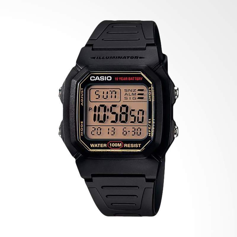 CASIO Standard Jam Tangan Pria - Black W-800HG-9AVDF