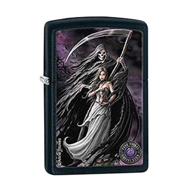 Zippo Anne Stokes Woman and Reaper Black Matte Pocket Lighter