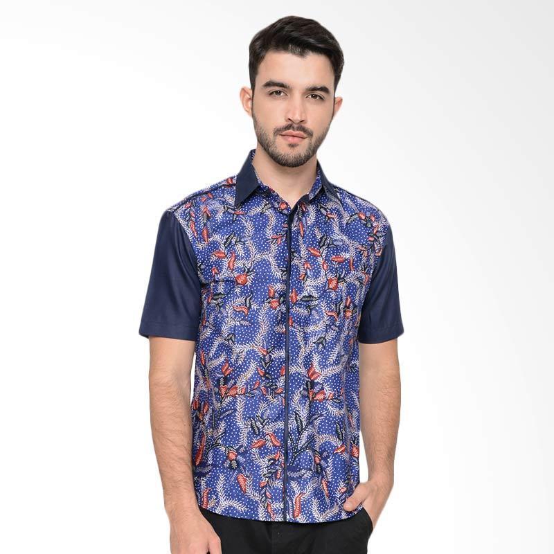 Enzy Batik Casual Shirt Batik - Blue Navy