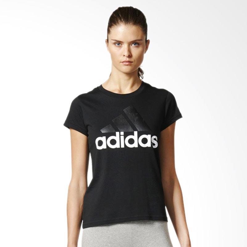 adidas B45786 Essentials Linear Women's Tee Baju Olahraga Wanita