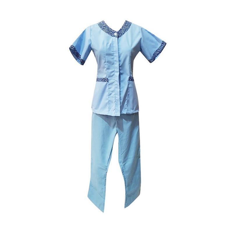 Kiyomi Stelan Baju Pendek dan Celana Panjang Batik Babysitter - Biru