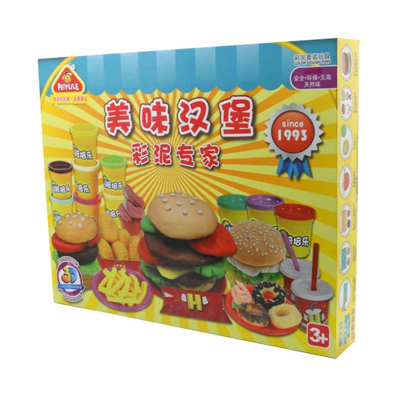 MTOYS Play Dough Tasty Hamburger Party Mainan Lilin Anak
