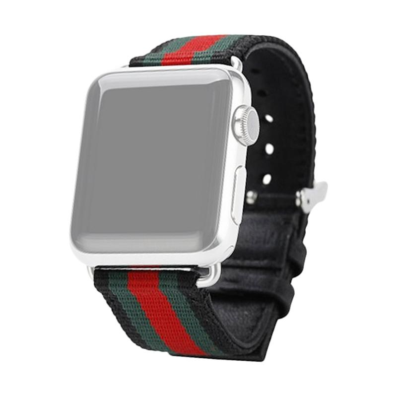 OEM Fabric Gucci Strap for Apple Watch 42 mm - Black