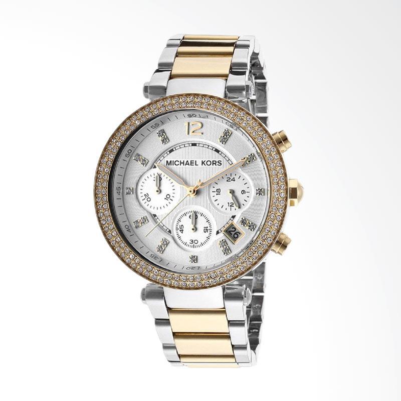 Michael Kors Women's MK5626 Parker Analog Display Analog Quartz Two Tone Watch Jam Tangan Wanita