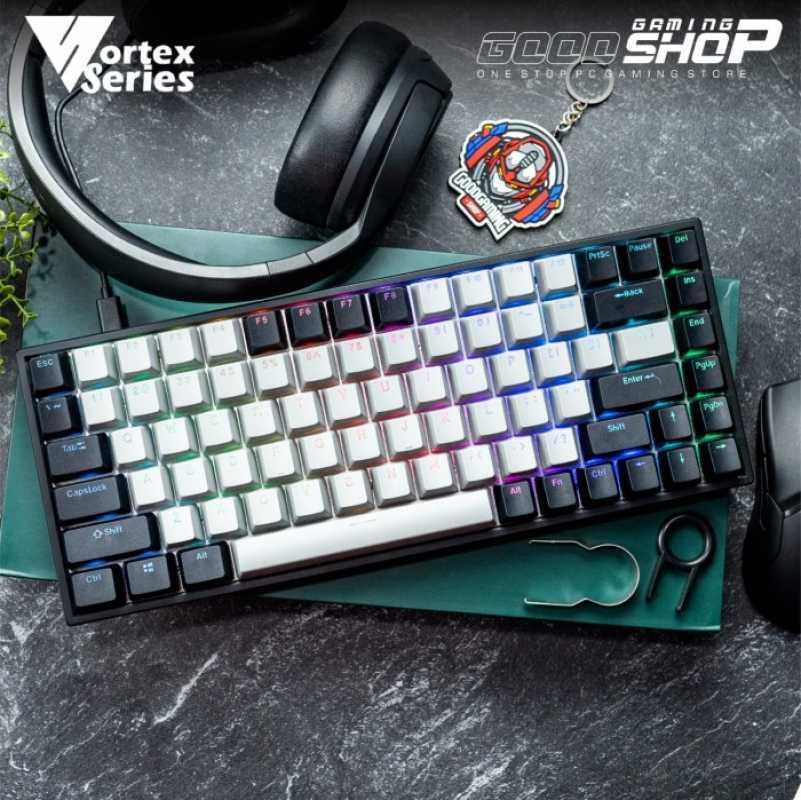 Vortexseries Vx8 Pro Mechanical Keyboard Vortex Vx 8 Gaming Keyboard Hitam Gateron Blue