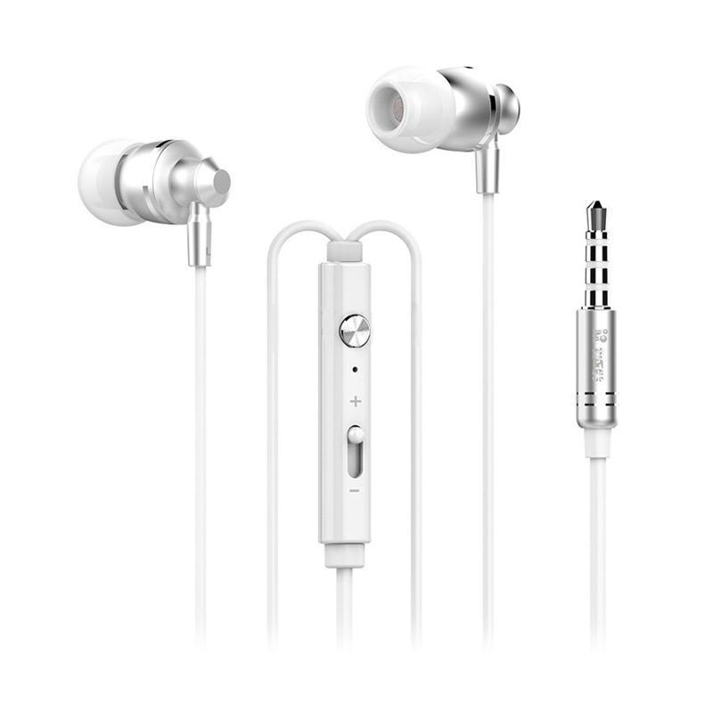 Langsdom M300 3.5mm In-ear Bass Earphone With Mic - Silver
