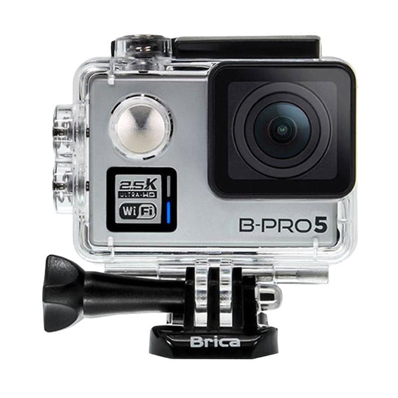 Brica B-PRO 5 Alpha Plus Version 2 AP2 Action Camera + 3 Way Monopod - Silver