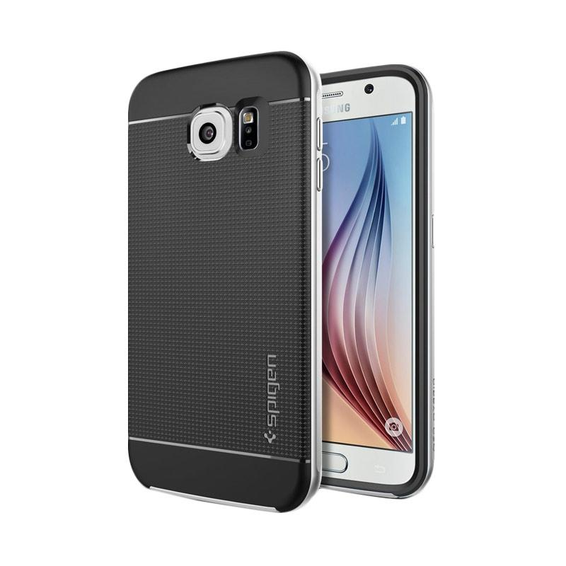 Spigen Neo Hybrid Bumper Frame with Flexible Inner Protection and Reinforced Casing for Samsung Galaxy S6 2015 - Satin Silver