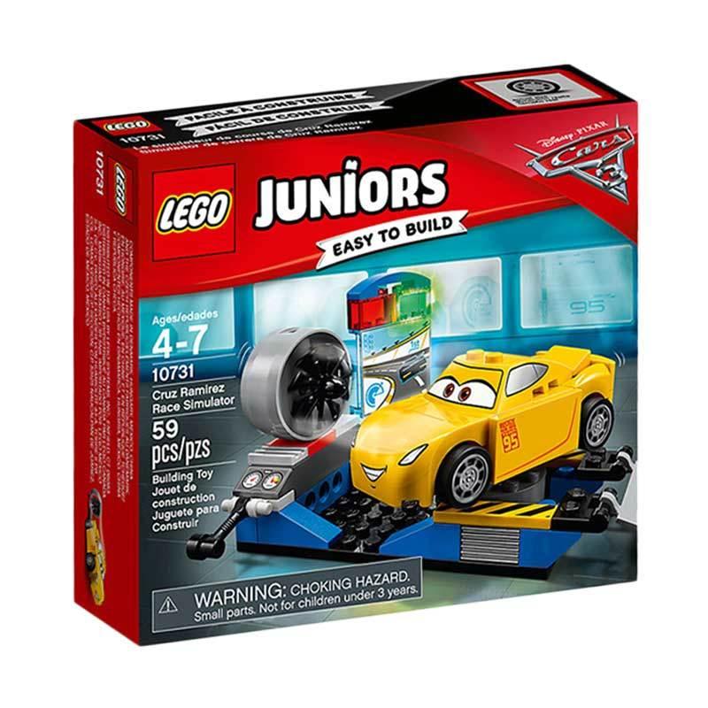 LEGO Juniors 10731 Cruz Ramirez Race Simulator Mainan Anak