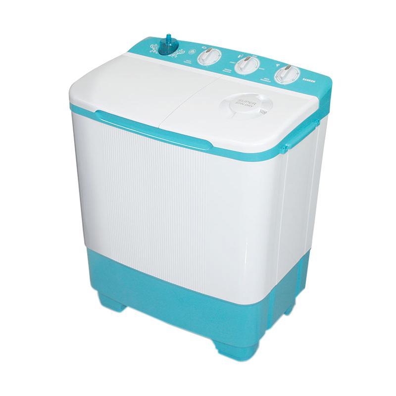 Sanken TW-8650BU Mesin Cuci 2 Tabung [7 Kg] Putih Biru