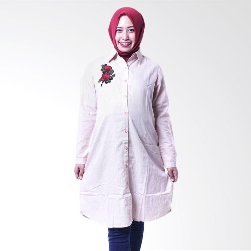 harga Mama Hamil Tunik Hamil Full Kancing Rose Belle Amina BLJ 399 Baju Hamil Menyusui - Cream Blibli.com