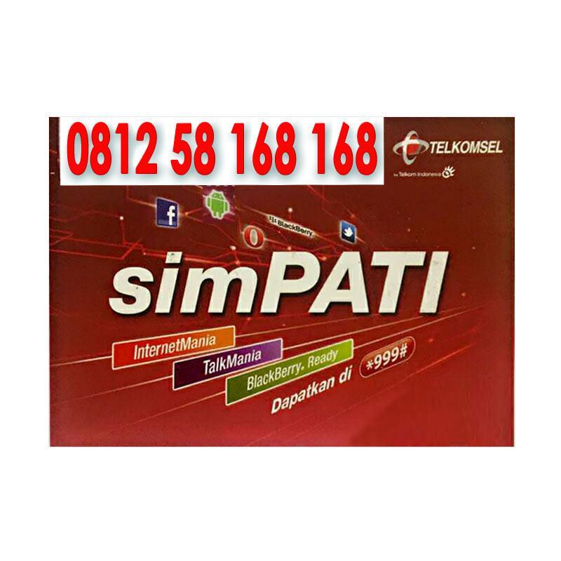 Telkomsel Simpati Hoki Nomor Cantik 0812 58 168 168 Kartu Perdana