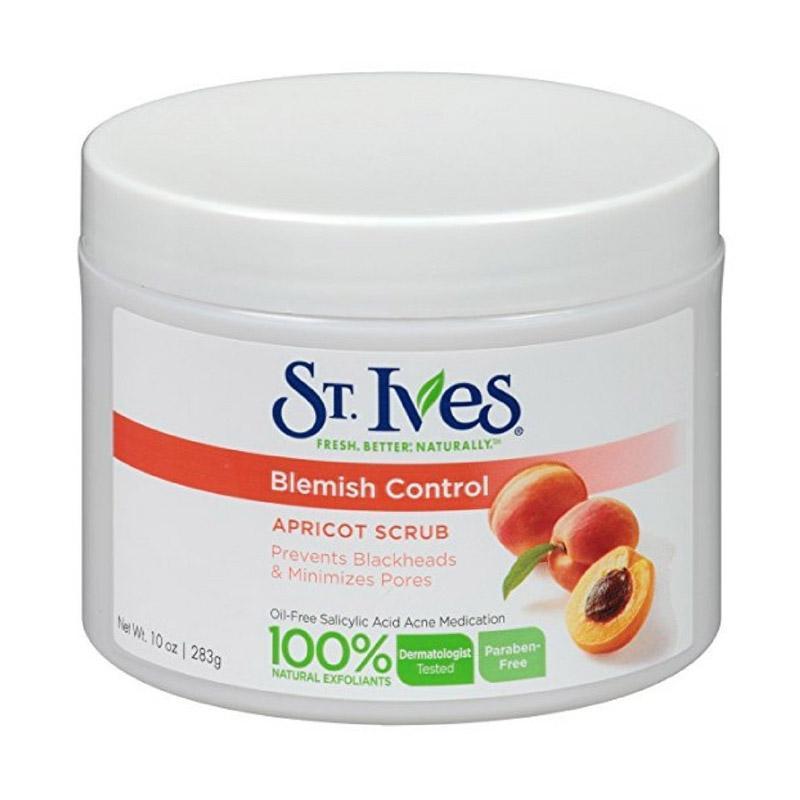 St. Ives Apricot Scrub Naturally Clear Blemish and Blackhead Control Pembersih Wajah [10 oz]