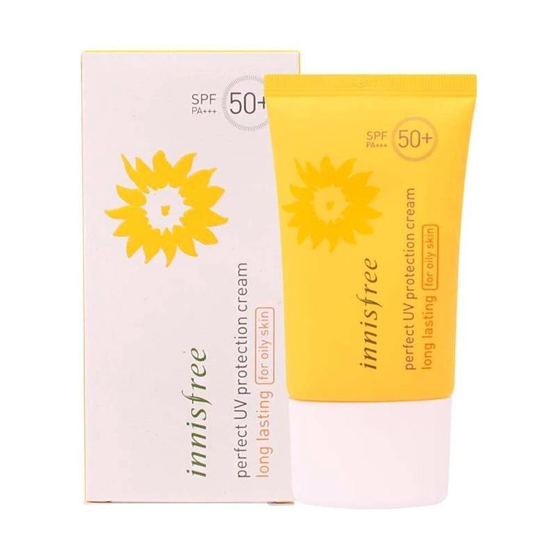 Innisfree Perfect UV Protection Long Lasting SPF 50+++ Sun Cream Perawatan Wajah