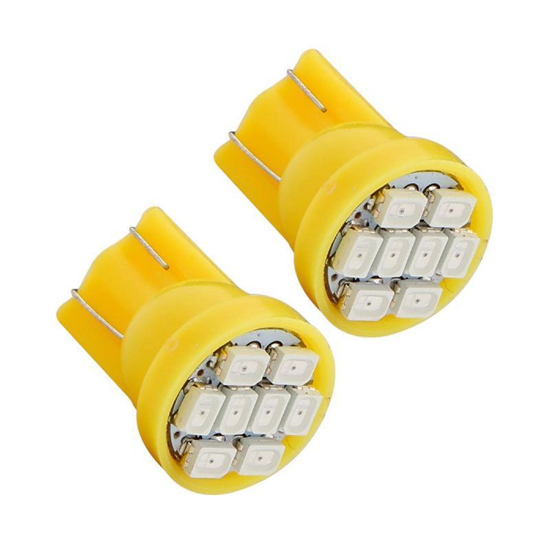 Harga Jual JMS T10 8 SMD 3020 Lampu Senja LED Mobil or Motor - Yellow [