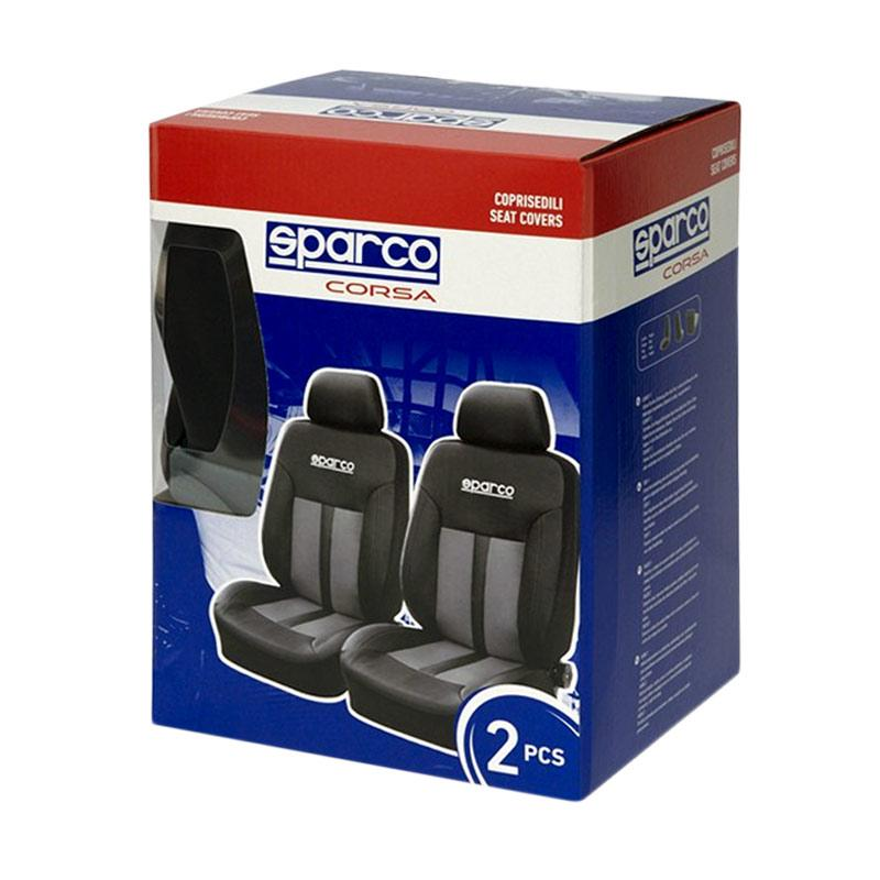 Sparco SPC1018GR Universal Seat Covers - Black Grey
