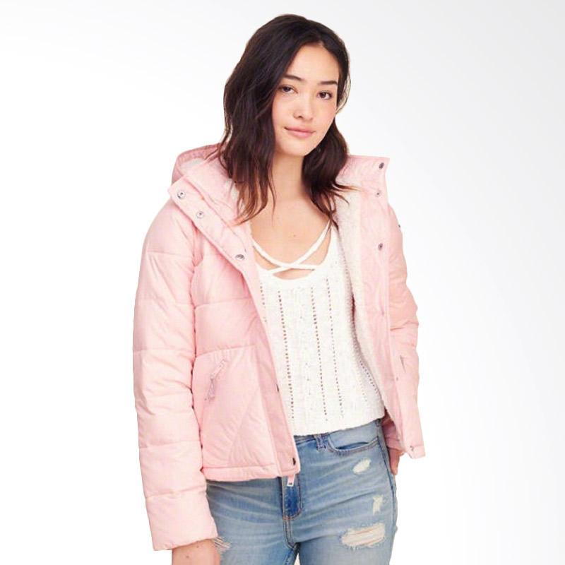 Hollister Sherpa Lined Puffer Jacket Wanita -  Baby Pink
