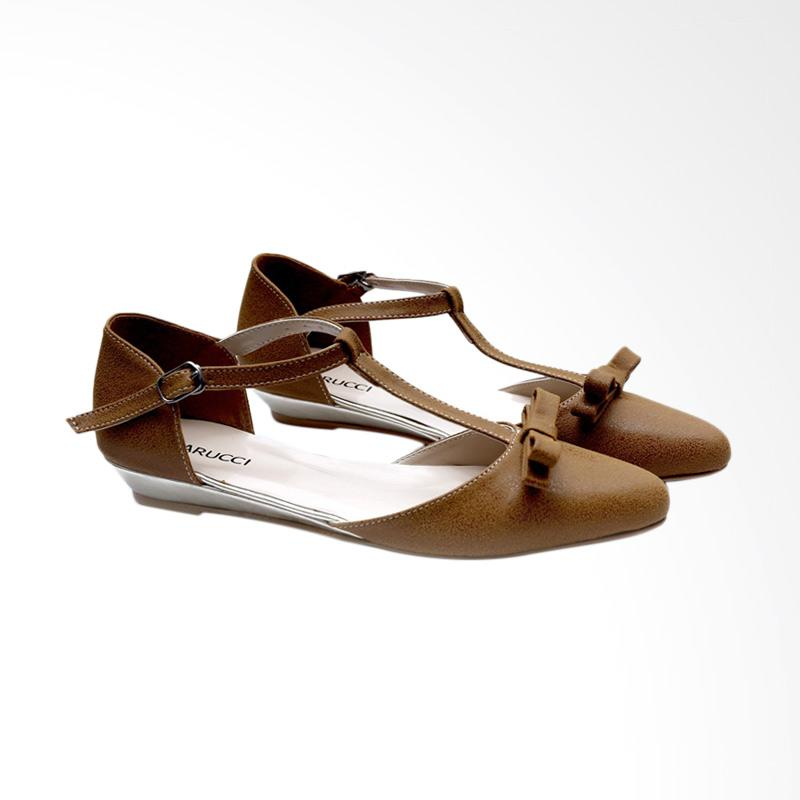 Garucci GPM 6120 Ballerina Shoes Wanita - Brown