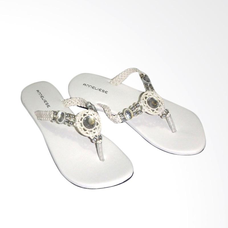 Anneliese Mega Sandal Flat Wanita - Putih