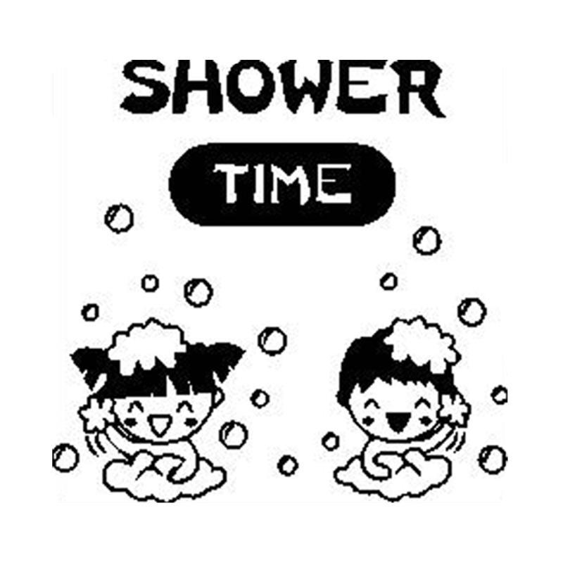 Epinidithouse Shower Time Cewe Cowo Dekorasi Dinding Toilet Kamar Mandi