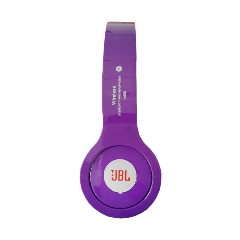 harga JBL S450 Headphone Bluetooth Headset with Micro SD Slot - Ungu Blibli.com