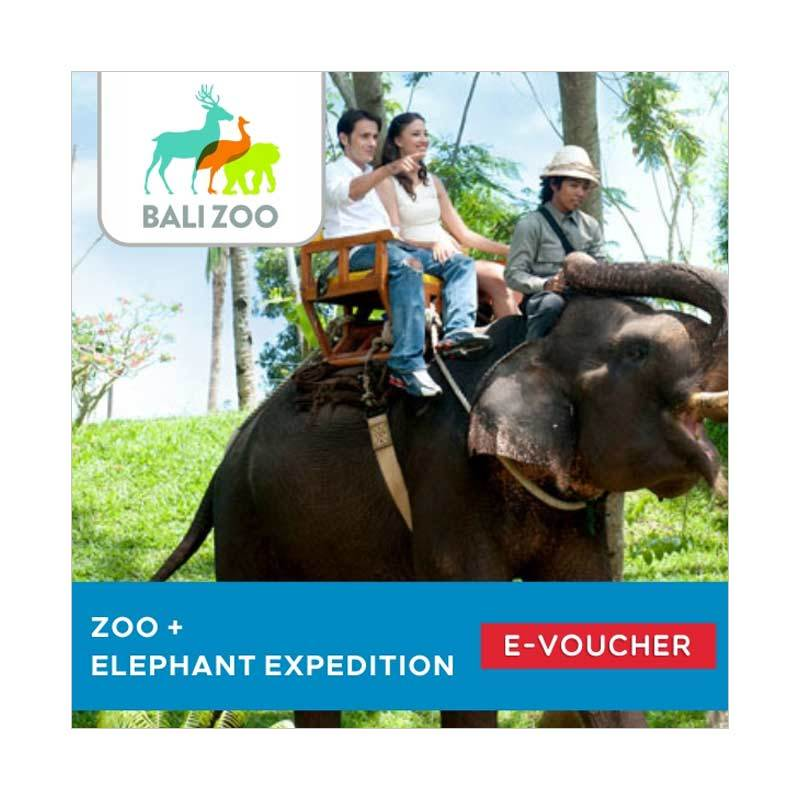 Bali Zoo Park Zoo dan Elephant Expedition Jungle Outbound E-Voucher [Adult]