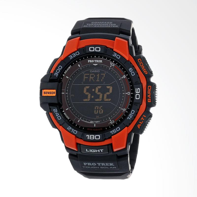 CASIO Pro Trek Digital Display Japanese Quartz Watch Jam Tangan Pria - Black PRG-270-4CR