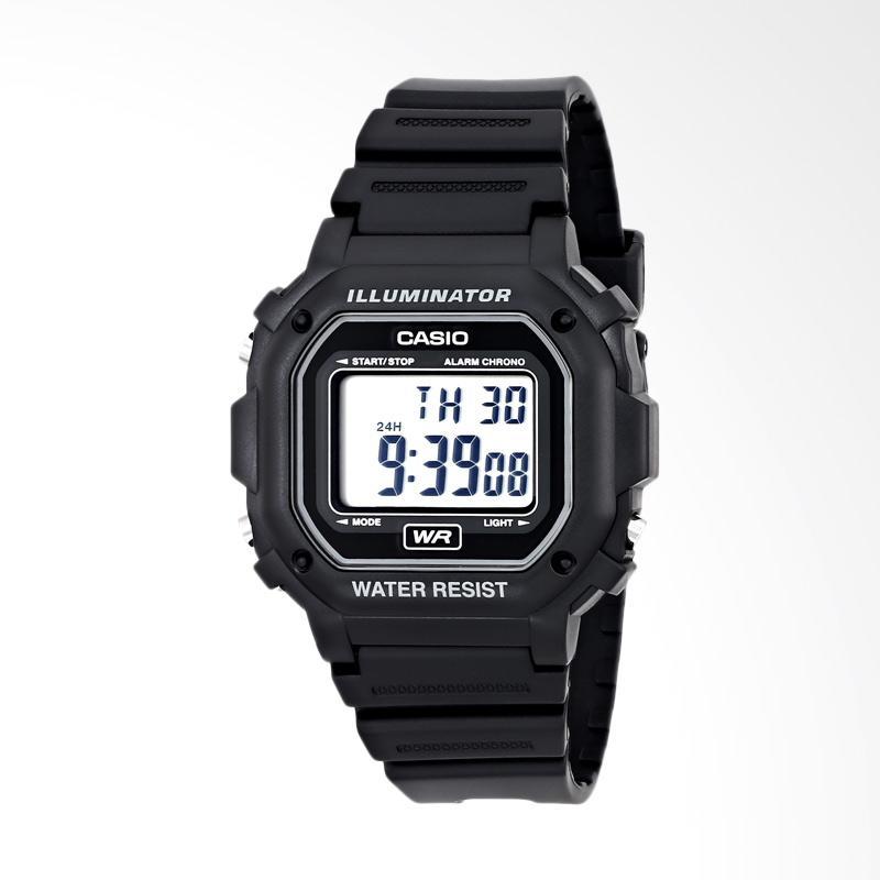 Casio Men's Illuminator Collection Black Resin Strap Digital Watch Jam Tangan Pria F108WH
