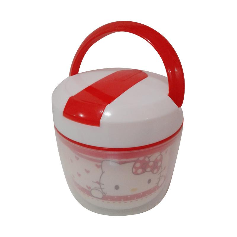 Hello Kitty Love HK Set Peralatan Makan - White Red