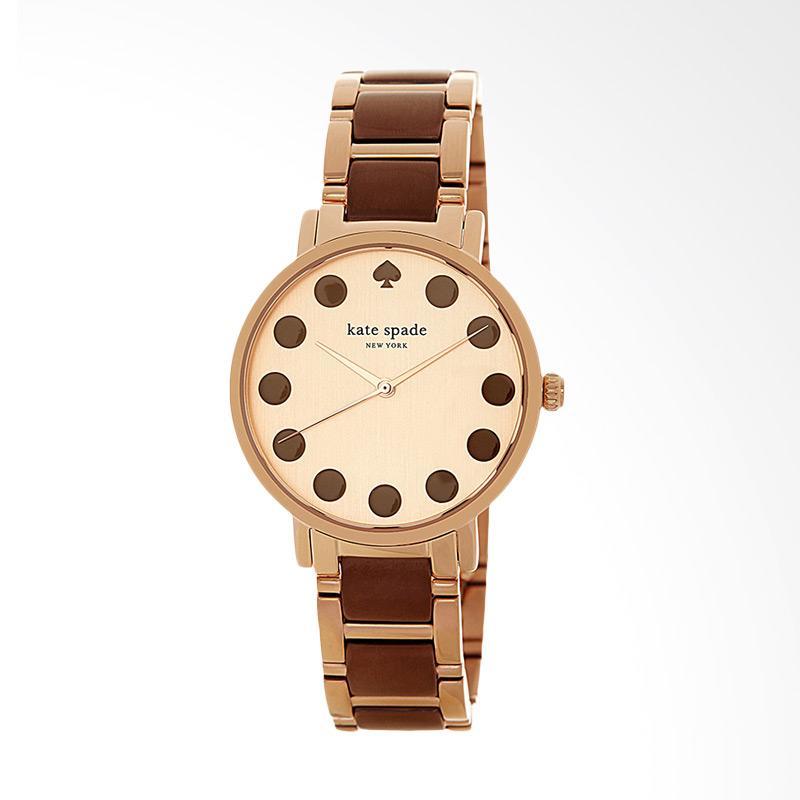 Kate Spade 1YRU0739 Gramercy Dot Rose Gold Dial Dual-tone Stainless Steel Jam Tangan Wanita - Brown