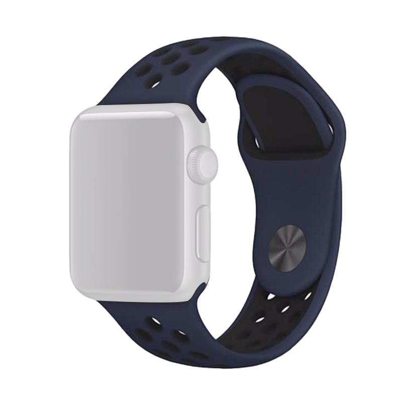 OEM Nike Unisex Rubber Strap for Apple Watch Nike or iWatch 38 mm - Blue