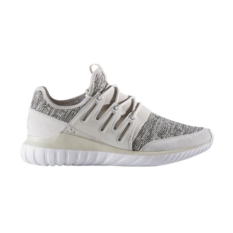 harga adidas Men Originals Tubular Radial Sepatu Olahraga Pria - Tan Clear Brown White (BB2395