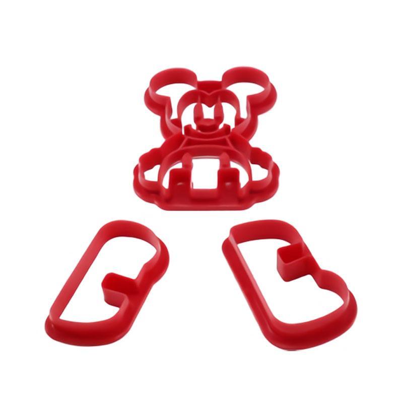 Toko49 Winnie The Pooh Mickey Mouse Cetakan Kue - Merah